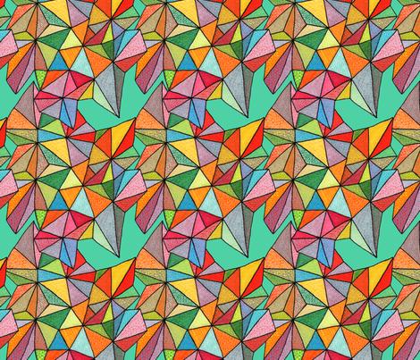 triangles on teal fabric by aprilmariemai on Spoonflower - custom fabric