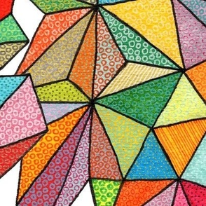 giant triangles on white