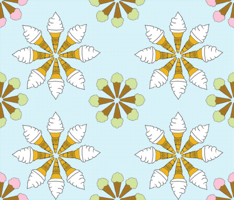 flower_icecream_jojoebi_designs_2011 fabric by jojoebi_designs on Spoonflower - custom fabric