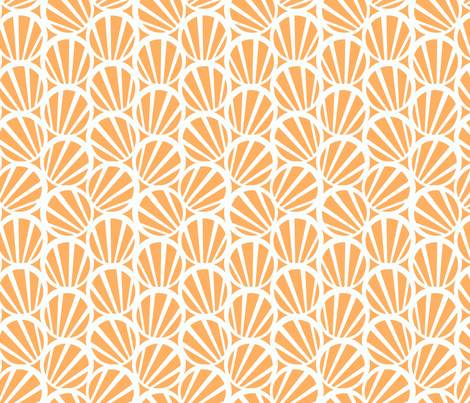 circles and stripes peach fabric by myracle on Spoonflower - custom fabric