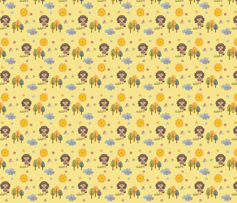 spring in the forest fabric by sawabona on Spoonflower - custom fabric