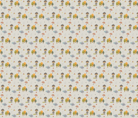Autumn in the forest fabric by sawabona on Spoonflower - custom fabric