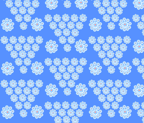 PrettyBlue fabric by createdgift on Spoonflower - custom fabric