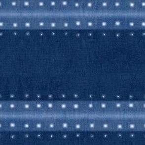 Indigo Blue Shibori, Japanese Tie Dye, Blue Boho Print