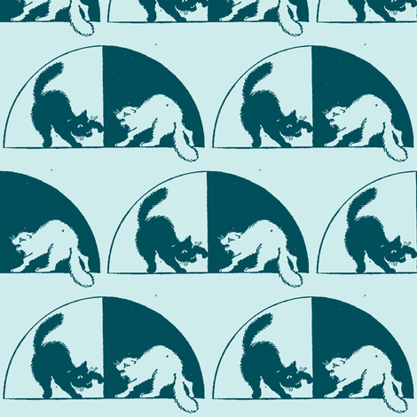 1913 Cat Fight fabric by edsel2084 on Spoonflower - custom fabric