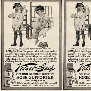 1915 Velvet Grip Garters ad