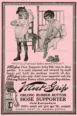 1915 velvet grip garters advertisement