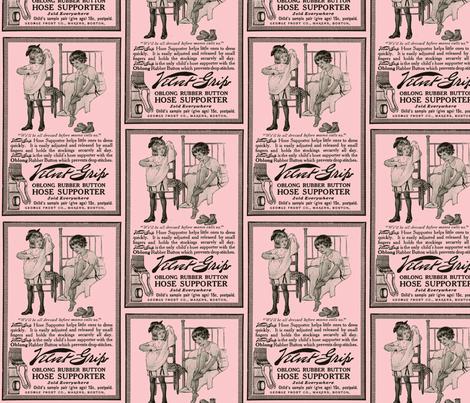 1915 velvet grip garters advertisement fabric by edsel2084 on Spoonflower - custom fabric