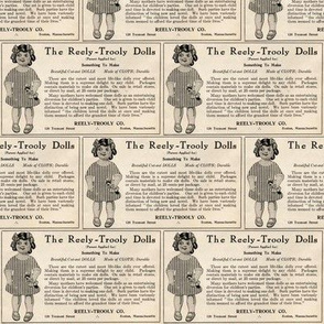 1915 Reely Trooly doll advertisement