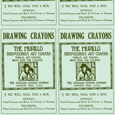 1915 non-poisonous crayons advertisement fabric by edsel2084 on Spoonflower - custom fabric