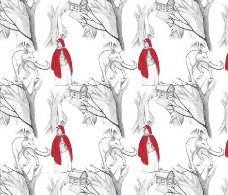 Red Riding Hood fabric by victoriagolden on Spoonflower - custom fabric
