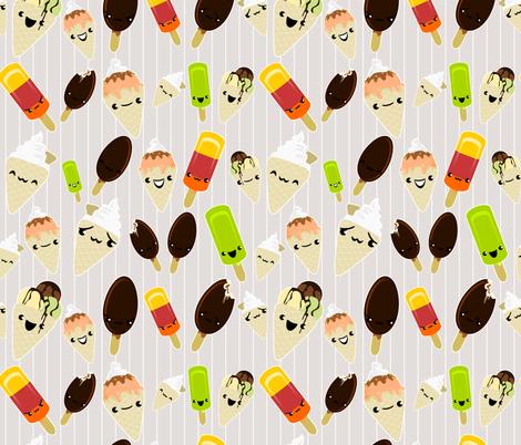 Glaces en folie fabric by kobaitchi on Spoonflower - custom fabric