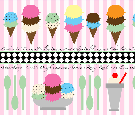 Ice_Cream_Shop fabric by pinkmonkey16 on Spoonflower - custom fabric