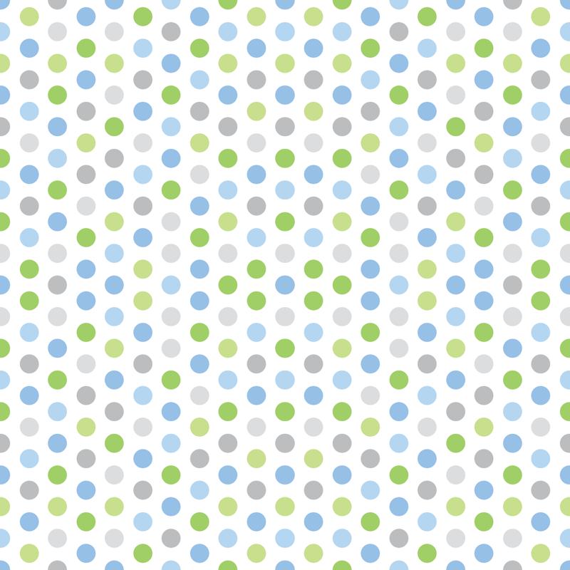 Baby Boy Blue Antarctic Polk A Dot Pattern 1 Giftwrap