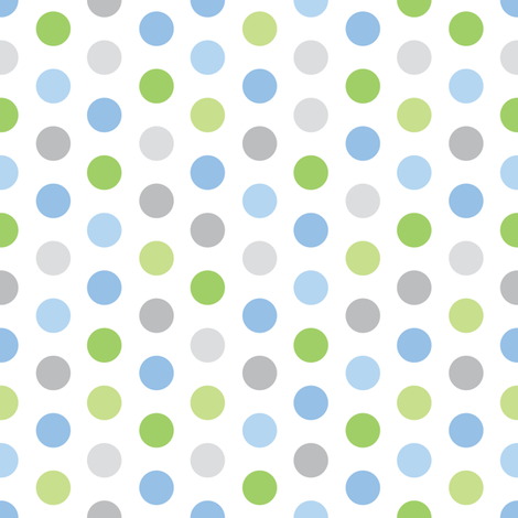 Baby Boy Blue Antarctic polk-a-dot pattern 1 fabric by doodletrain on Spoonflower - custom fabric