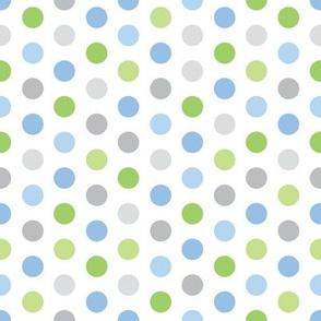 Baby Boy Blue Antarctic polk-a-dot pattern 1
