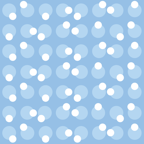 Baby Boy Blue Antarctic bubble pattern fabric by doodletrain on Spoonflower - custom fabric