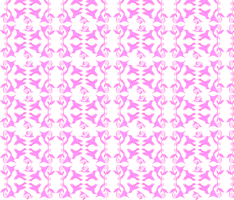 Bird  pink fabric by rosapomposa on Spoonflower - custom fabric