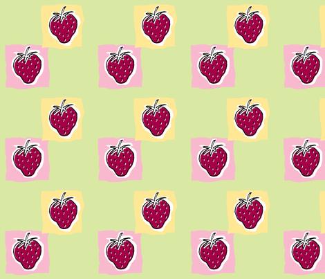 Strawberry Sundae fabric by woodledoo on Spoonflower - custom fabric