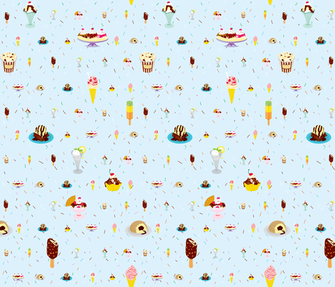 Glaces (zoom to see details) fabric by made_in_shina on Spoonflower - custom fabric