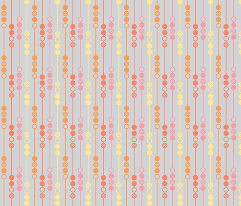 Mot Dot - Orange Beads fabric by leighr on Spoonflower - custom fabric