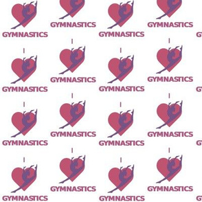 Gymnastics Fabric Wallpaper Gift Wrap