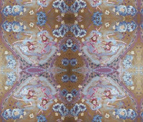 Maisie and Matilda Best friend fairies fabric by myartself on Spoonflower - custom fabric