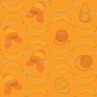 Cunning hat and bananas.