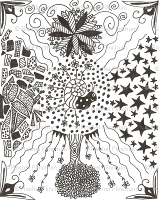 Zentangle Me This, Little Snail...