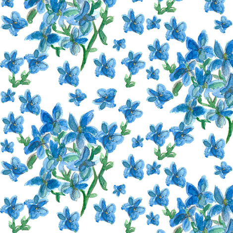 Forget Me Not fabric by countrygarden on Spoonflower - custom fabric