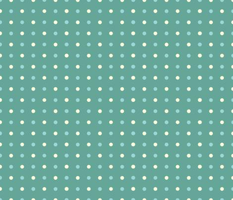 FriendlyMonstersGreenDots fabric by jpdesigns on Spoonflower - custom fabric