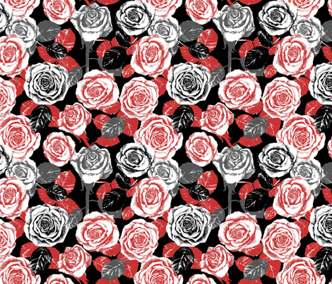 Red Roses fabric by twobloom on Spoonflower - custom fabric