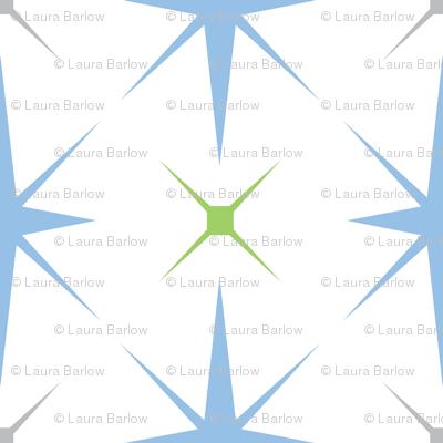Baby Boy Antarctic snowflake pattern 2