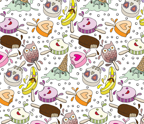 Ice Cream Crime Scene fabric by sammyk on Spoonflower - custom fabric