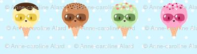 Kawaii Ice Cream Friends