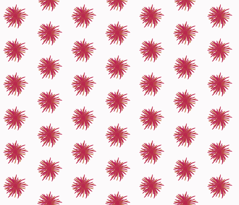 Pink and mustard flowers on palest pink by Su_G fabric by su_g on Spoonflower - custom fabric