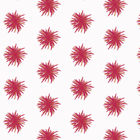 Pink + mustard flowers on palest pink by Su_G fabric by su_g on Spoonflower - custom fabric