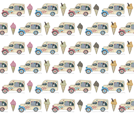 vintage_ice_cream fabric by peppermintpatty on Spoonflower - custom fabric