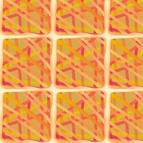 Mustard and pink stripes on mustard