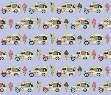ice_van_blueberry fabric by peppermintpatty on Spoonflower - custom fabric