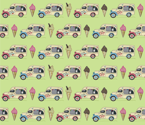 ice_van_pistachio fabric by peppermintpatty on Spoonflower - custom fabric