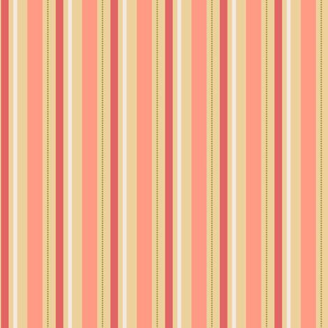 Peachy Stripe fabric by countrygarden on Spoonflower - custom fabric