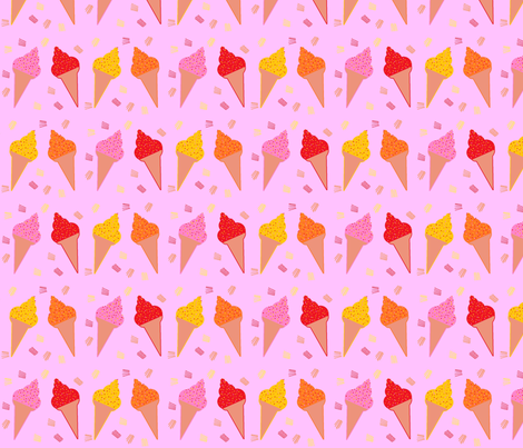 glaces_4_parfums fabric by paky on Spoonflower - custom fabric