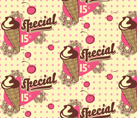 Ice Cream Special fabric by beckyswope on Spoonflower - custom fabric