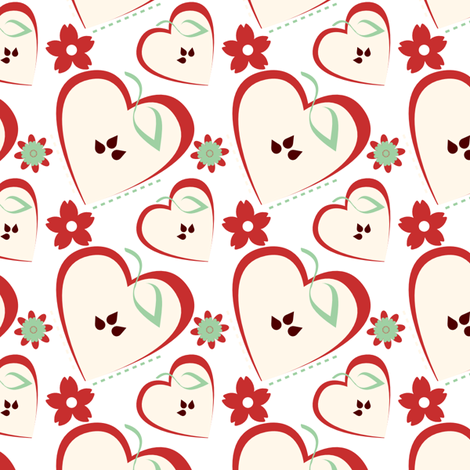 Apple Tablecloth fabric by eppiepeppercorn on Spoonflower - custom fabric
