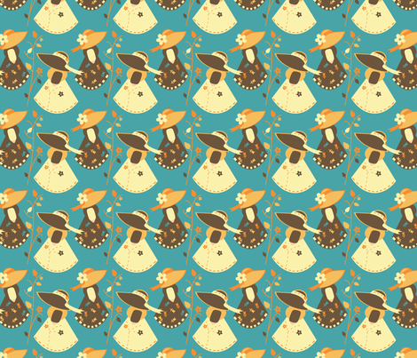 Songbird Sue fabric by eppiepeppercorn on Spoonflower - custom fabric