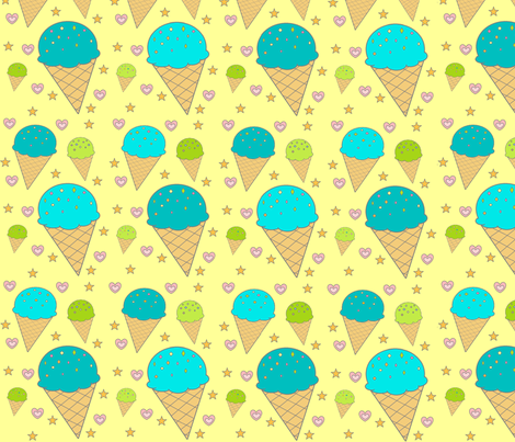 Ice_Cream fabric by hlacerte on Spoonflower - custom fabric