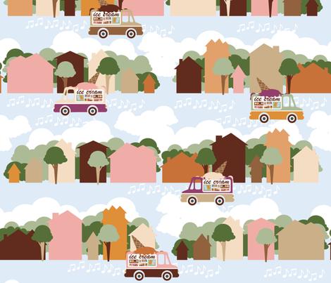 ice cream truck fabric by creativebrenda on Spoonflower - custom fabric