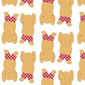 Dancing Bears In Red Polka Dot pants