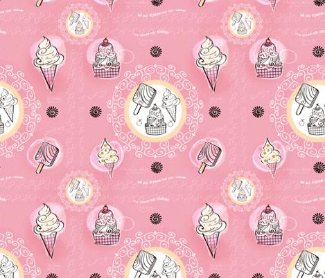 The classic ice cream design fabric by koala_prints on Spoonflower - custom fabric